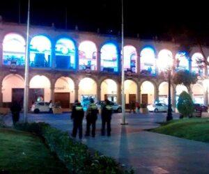 Feria inmobiliaria afecta iluminación del Portal de la Municipalidad