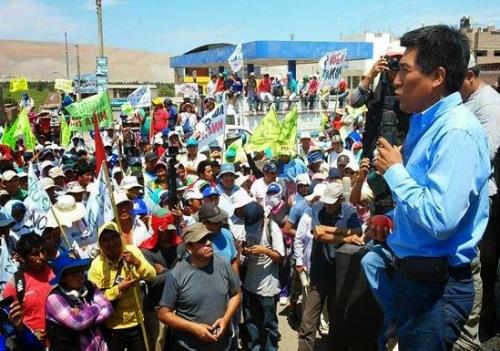 Alcalde Alex Islay, protesta tia Maria