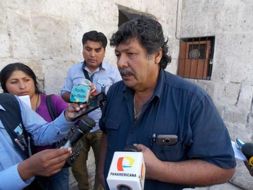 El alcalde de Majes, Elard Hurtado Retamozo.