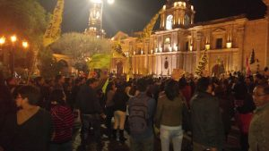 VIDEO y FOTOS. Multitudinaria marcha contra candidata Keiko Fujimori en Arequipa