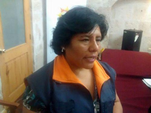 Especialista de capacitaciones de la Oficina Regional de Defensa Nacional y Defensa Civil del Gobierno Regional de Arequipa, Roxana Amache.