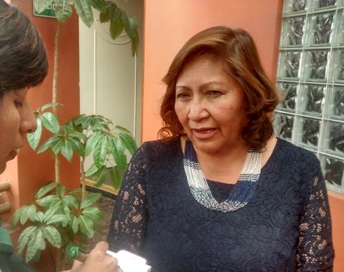 """Congresista electa por """"Peruanos por el Kambio"""", Ana María Chuquehuanca."""