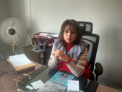 Presidenta del Jurado Electoral Especial (JEE) Arequipa 1, Cecilia Aquize Díaz.