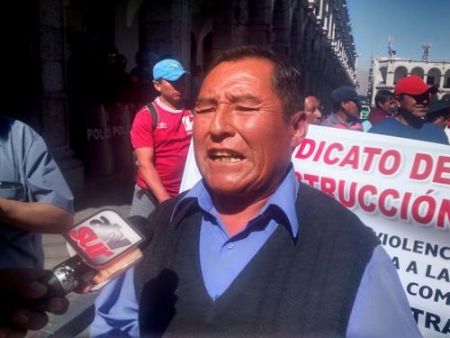 Secretario general de la Confederación General de Trabajadores del Perú (CGTP), Mariano Nina Hancco.