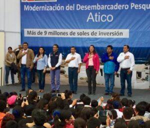 Humala inauguró modernización del desembarcadero pesquero de Atico