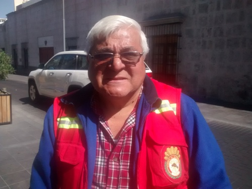 Jefe de la Compañía de Bomberos de Arequipa, Jorge Martínez Ríos.