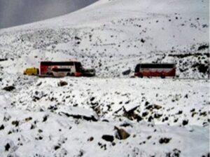 Nevada cubrió más de 50 kilómetros de la carretera entre Arequipa y Puno