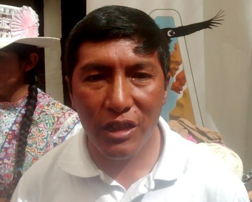 El alcalde de Tisco, Sebastián Huaracha Ancca.