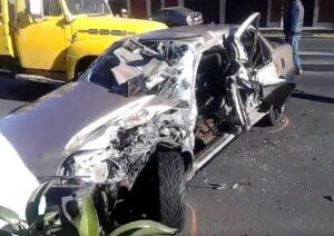Triple choque automovilísitico en avenida Los Incas deja un herido de gravedad