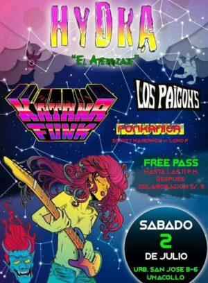 Hydra presenta a La Katana Funk y Los Paicons este sábado