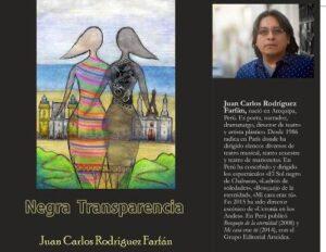 """Con escenificación presentarán novela """"Negra Transparencia"""", de Juan Carlos Rodríguez"""