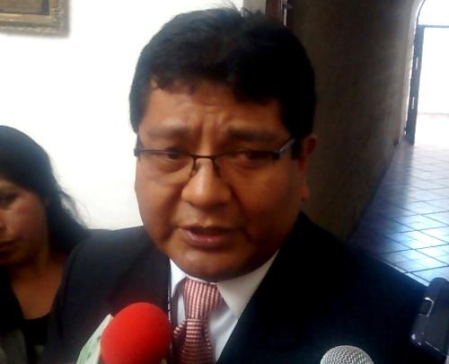 El gerente de Trabajo, Freddy Cahui Calizaya.