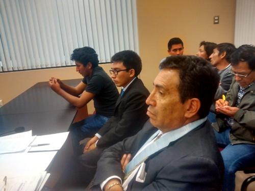 Abogado Hector Herrera y acusados.