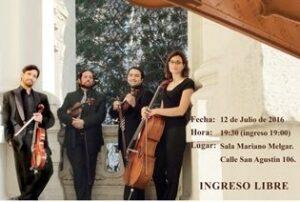 Concierto de Música de Cámara por aniversario de la Escuela de Artes de la UNSA