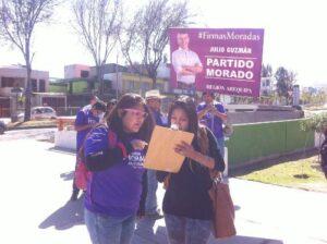 «Partido Morado» de Guzmán inició recojo de firmas en Arequipa
