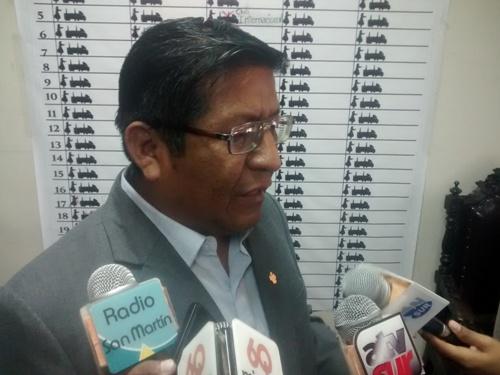 Regidor de la Municipalidad Provincial de Arequipa, Pedro Santos.