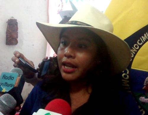 Presidenta de la Comunidad Campesina de Polobaya, Lady Flores Cabana.