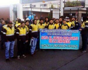 Gerencia de Trabajo declara improcedente cierre de Aceros Arequipa y exige pago a trabajadores despedidos