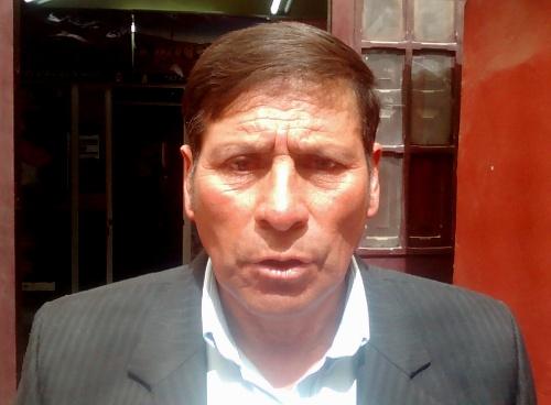 Alcalde de Andagua, Jesús Purguaya Sánchez.