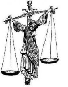 Justicia ciega y firme