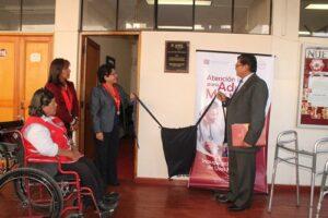 Inauguran sala para uso de discapacitados y adultos mayores en Corte de Justicia