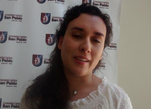 Historiadora Andrea Ocampo.