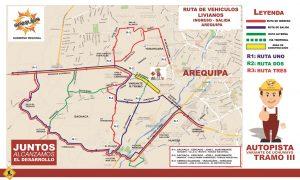 Presentan rutas alternas del plan desvíos por cierre de la variante de Uchumayo