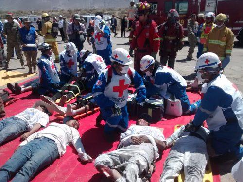 Simulacro atienden heridos