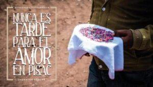 """Jhonatan Segura presenta muestra fotográfica """"Nunca es tarde para el amor, en Pisac"""""""