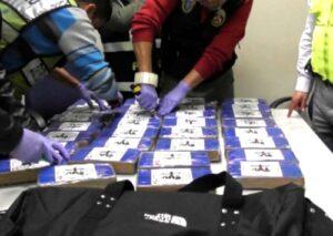 Serenos de Uchumayo decomisan 26 paquetes de PBC en una intervención