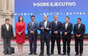 Descentralización en marcha con acuerdos en el primer encuentro Gore-Ejecutivo