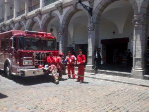 VIDEO. Sedapar y bomberos inspeccionaron hidrantes para incendio en el Centro Histórico