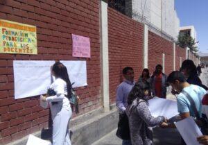 VIDEO. Colectivo de estudiantes UCSM protesta contra autoridades