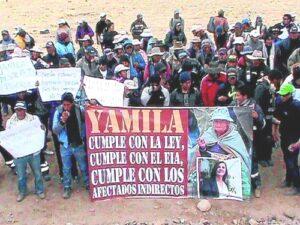 Pobladores de Caylloma toman obras de la represa de Angostura como protesta
