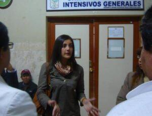 Yamila Osorio es trasladada desde La Unión a un hospital de Arequipa