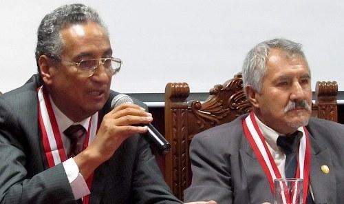 José Luis Lecaros Cornejo, junto a Ramiro de Valdivia Cano, otro de los jueces cuestionado por su gran patrimonio.