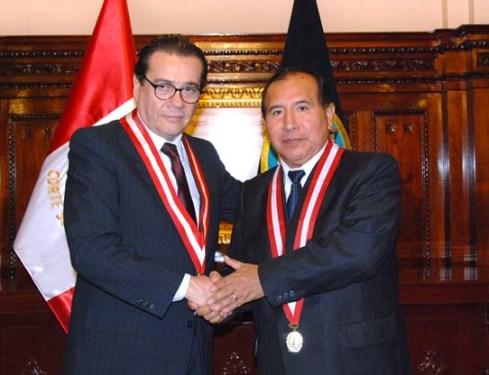 Victor Ticona, al momento de ser elegido presidente de la Corte Suprema de Justicia.