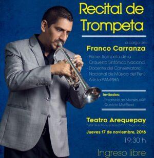 Recital de trompeta en el Teatro Arequepay