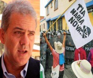 En valle de Tambo critican pedido Cámara de Comercio para reactivar Tía María