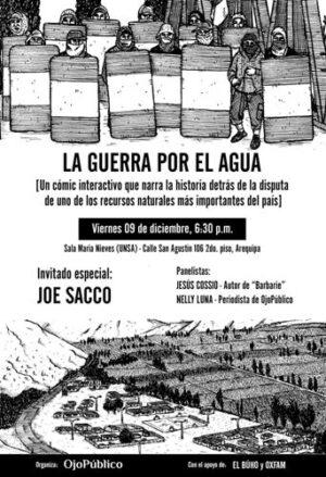 """Presentarán el primer comic interactivo """"La guerra por el agua"""" sobre conflicto Tía María"""