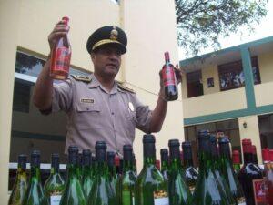 Mil botellas de licores fueron incautadas por presentar signos de adulteración