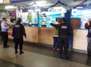 PNP realiza operativo en Terminal para evitar ingreso de pirotécnicos