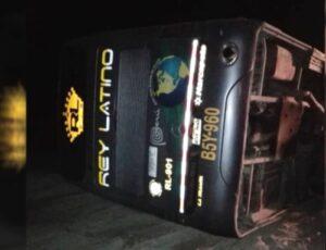 Accidente de bus interprovincial causa la muerte de un pasajero y 14 heridos