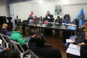 Conforman dos subcomisiones de trabajo ante emergencia por Sabancaya