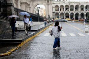 Senamhi: Lluvias se registrarán en Arequipa hasta el 2 de enero