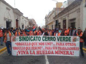 Trabajadores y Cerro Verde alcanzan acuerdo tras 19 días de huelga