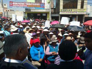 Pobladores de Alto Cayma piden a Municipalidad adjudicación de terrenos