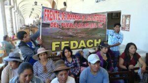 Pobladores de Condesuyos piden a minera proyectos de desarrollo sostenible