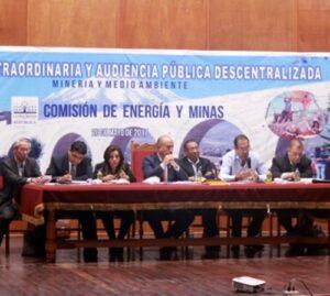 Minería informal, Cerro Verde y Southern acaparan audiencia pública
