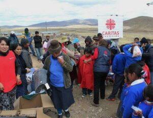 GRA entrega ayuda a damnificados por heladas en Condesuyos